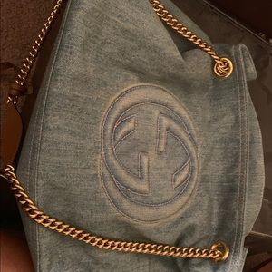 Gucci denim purse